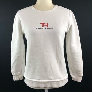 Tommy Hilfiger Vintage White Logo Spellout Sweater
